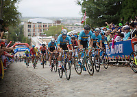 Tom Boonen (BEL/Etixx-QuickStep), Sep Vanmarcke (BEL/LottoNL-Jumbo),  Nikolas Maes (BEL/Ettix-QuickStep) & the other Belgians up 23rd street<br /> <br /> Elite Men Road Race<br /> UCI Road World Championships Richmond 2015 / USA