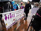 A rally calling on president Obama to ensure the United States is a leader in providing comprehensive, post-rape care, including safe abortion services, to survivors of sexual violence forms in front of the White House in Washington DC. <br /> <br /> PHOTOS/John Nelson