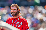 21 April 2013: Washington Nationals outfielder Jayson Werth stands in the dugout during a game against the New York Mets at Citi Field in Flushing, NY. The Mets shut out the visiting Nationals 2-0, taking the rubber match of their 3-game weekend series. Mandatory Credit: Ed Wolfstein Photo *** RAW (NEF) Image File Available ***