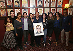 Michael Grief and friends attend the Michael Grief Sardi's Portrait Unveiling at Sardi's on 4/27/2017 in New York City.