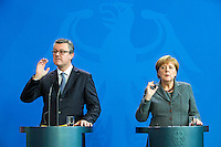 01 March 2016 - Berlin, Germany - Joint press conference of the German Chancellor Angela Merkel with the Croatian Prime Minister Tihomir Oreskovic on March 1, 2016 at the Federal Chancellery Berlin<br /> Photo Credit: Stocki/face to face/AdMedia