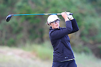 Emily Toy (ENG) on the 17th tee during the Matchplay Final of the Women's Amateur Championship at Royal County Down Golf Club in Newcastle Co. Down on Saturday 15th June 2019.<br /> Picture:  Thos Caffrey / www.golffile.ie
