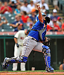 14 September 2008: Kansas City Royals' catcher John Buck in action against the Cleveland Indians at Progressive Field in Cleveland, Ohio. The Royal defeated the Indians 13-3 to take the 4-game series three games to one...Mandatory Photo Credit: Ed Wolfstein Photo