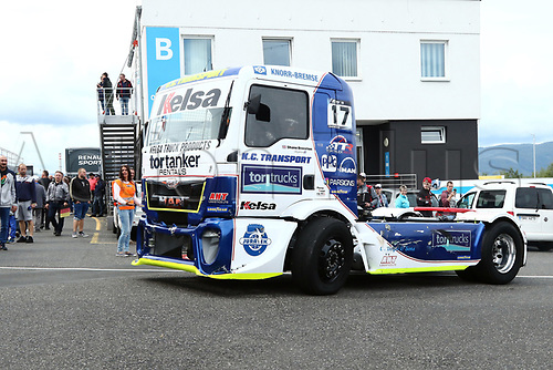 3rd September 2017, Most Racing Track, Most, Czech Republic; FIA European Truck Racing Championship; 3rd race, the truck of Shane BRERETON (GB/MAN/Team Brereton),  on the way to the start