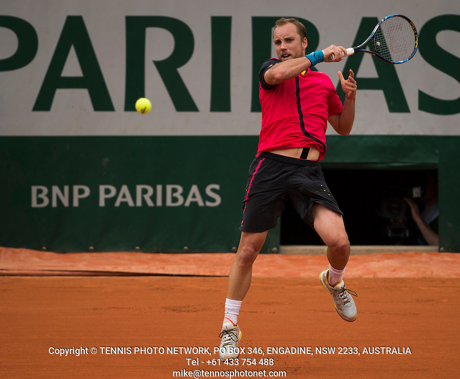 STEVE DARCIS (BEL)<br /> <br /> TENNIS - FRENCH OPEN - ROLAND GARROS - ATP - WTA - ITF - GRAND SLAM - CHAMPIONSHIPS - PARIS - FRANCE - 2016  <br /> <br /> <br /> <br /> &copy; TENNIS PHOTO NETWORK