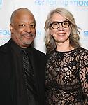 "Sheldon Epps and Laura Penn during The ""Mr. Abbott"" Award 2019 at The Metropolitan Club on 3/25/2019 in New York City."