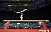 21st March 2018, Arena Birmingham, Birmingham, England; Gymnastics World Cup, day one, womens competition; Angelina Melnikova (RUS) on the Balance Beam during  Training