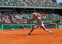 Caroline Wozniacki (DEN) (3) against Alla Kudryavseva (RUS) in the first round of the women's singles. Caroline Wozniacki beat Alla Kudryavseva 6-0 6-3..Tennis - French Open - Day 2 - Mon 24 May 2010 - Roland Garros - Paris - France..© FREY - AMN Images, 1st Floor, Barry House, 20-22 Worple Road, London. SW19 4DH - Tel: +44 (0) 208 947 0117 - contact@advantagemedianet.com - www.photoshelter.com/c/amnimages