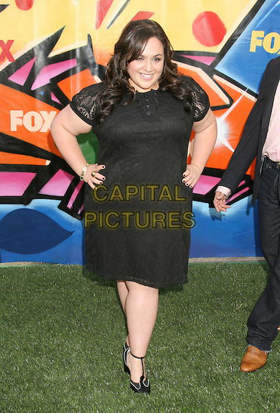 NIKKI BLONSKY.2007 Teen Choice Awards held at the Gibson Amphitheater, Universal City, California, USA..August 26th, 2007.full length black dress hands on hip t-bar shoes .CAP/ADM/RE.©Russ Elliot/AdMedia/Capital Pictures