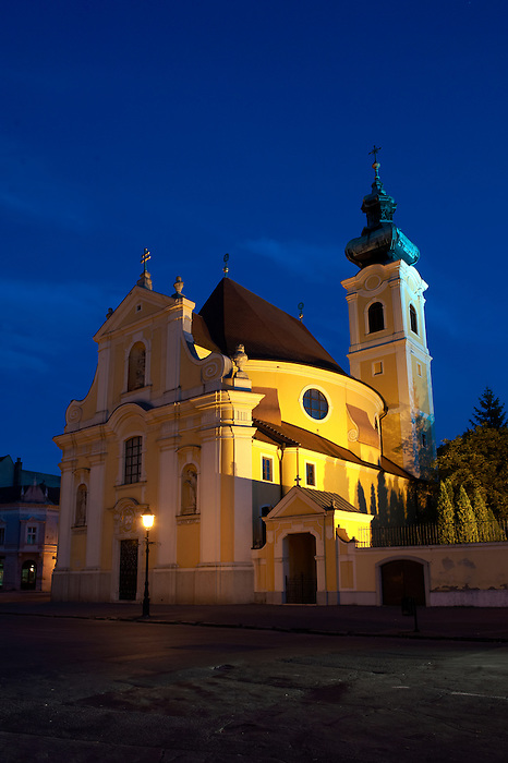 Carmelite church at night  - ( Gy?r )  Hungary