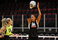 19.10.2016 Silver Ferns Maria Tutaia in action during the Silver Ferns Training in Invercargill. Mandatory Photo Credit ©Michael Bradley.