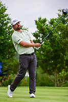 Ryan Moore (USA) watches his tee shot on 18 during round 1 of the Valero Texas Open, AT&amp;T Oaks Course, TPC San Antonio, San Antonio, Texas, USA. 4/20/2017.<br /> Picture: Golffile | Ken Murray<br /> <br /> <br /> All photo usage must carry mandatory copyright credit (&copy; Golffile | Ken Murray)