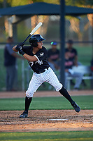 AZL White Sox Victor Torres (77) at bat during an Arizona League game against the AZL Indians Blue on July 2, 2019 at Camelback Ranch in Glendale, Arizona. The AZL Indians Blue defeated the AZL White Sox 10-8. (Zachary Lucy/Four Seam Images)