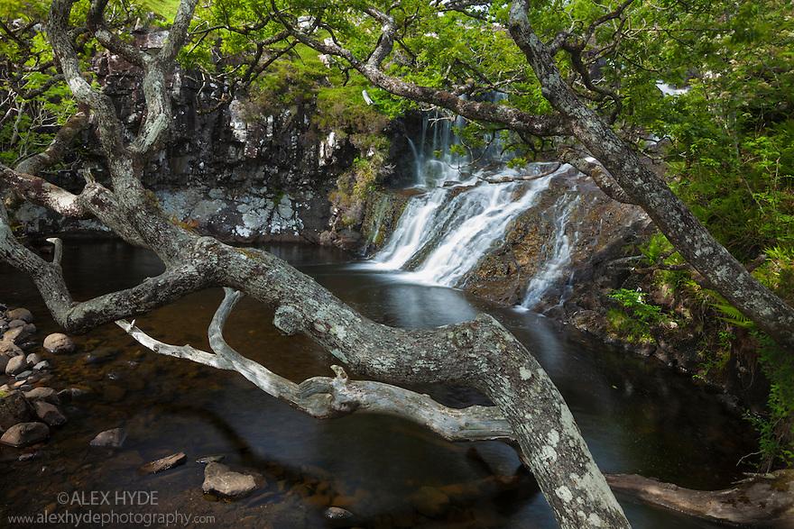 Eas Fors Waterfall, Isle of Mull, Scotland, UK. June