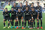 Real Madrid's team photo with Kiko Casilla, Sergio Ramos, Toni Kroos, Raphael Varane, Marco Asensio, Alvaro Morata, Mateo Kovacic, Daniel Carvajal, Garet Bale, Marcelo Vieira and Carlos Henrique Casemiro during La Liga match. August 21,2016. (ALTERPHOTOS/Acero)