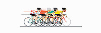 Cyclists in cycle race