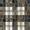 Hamish, a jewel glass mosaic shown in Lavastone, Schist, Quartz, Jasper and Obsidian.