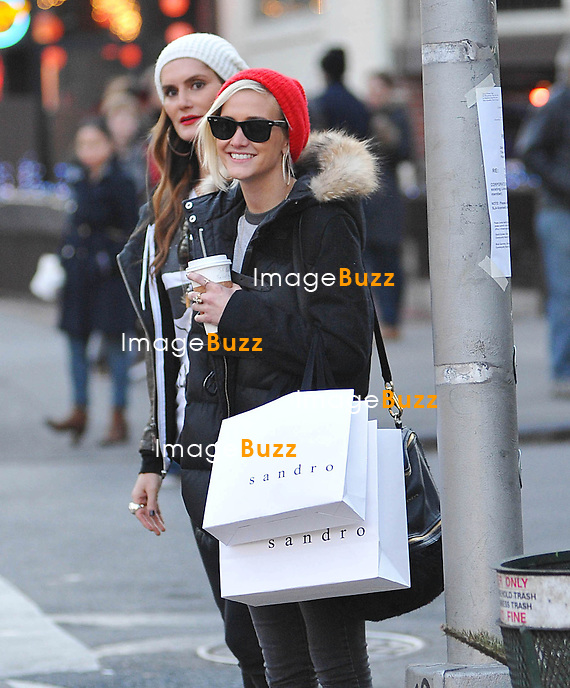 Ashlee Simpson enjoying a day out in new York City..New York, January 6, 2013.