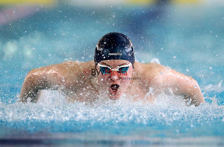 Action during the Swimming NZ Secondary School Championships, Waterworld, Te Rapa, Hamilton, New Zealand, Saturday 16th September 2017. Photo: Simon Watts/www.bwmedia.co.nz