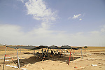 Archaeological excavations discovered the remains of a Byzantine settlement in Kibbutz Beit Kama, the northern Negev