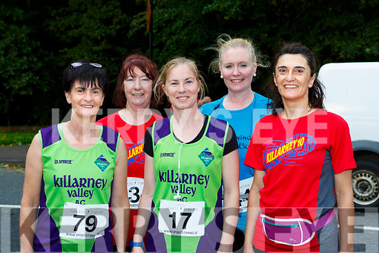Nollag Healy, Eileen Hayes, Noreen Buckley, Susan o'Donoghue, and Isabel Menaches Killarney at the Killarney 10 mile road race on Saturday
