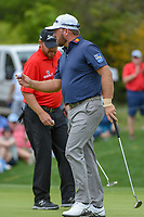 Graeme McDowell (NIR) sinks his putt on 1 during day 1 of the Valero Texas Open, at the TPC San Antonio Oaks Course, San Antonio, Texas, USA. 4/4/2019.<br /> Picture: Golffile   Ken Murray<br /> <br /> <br /> All photo usage must carry mandatory copyright credit (&copy; Golffile   Ken Murray)
