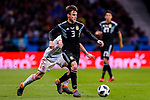 Nicolas Tagliafico of Argentina (R) in action during the International Friendly 2018 match between Spain and Argentina at Wanda Metropolitano Stadium on 27 March 2018 in Madrid, Spain. Photo by Diego Souto / Power Sport Images