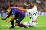 UEFA Champions League 2018/2019 - Matchday 3.<br /> FC Barcelona vs FC Internazionale Milano: 2-0.<br /> Luis Suarez vs Miranda.
