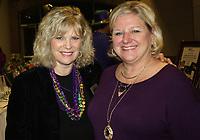 NWA Democrat-Gazette/CARIN SCHOPPMEYER Nancy Hairston (left) enjoy Chase the Blues Away.