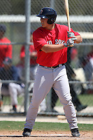 March 18, 2010:  First baseman Anthony Rizzo (17) of the Boston Red Sox organization during Spring Training at Ft.  Myers Training Complex in Fort Myers, FL.  Photo By Mike Janes/Four Seam Images