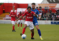 Sam Deering of Ebbsfleet United and Chris Bush of Chelmsford City during Ebbsfleet United vs Chelmsford City, Vanarama National League South Play-Off Final Football at The PHB Stadium on 13th May 2017