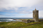 Doonagore Castle overlooking Doolin Point and the Atlantic Ocean
