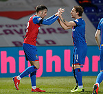 11.02.2019: Ross County v Inverness CT: Brad Mckay scelebrates with Tom Walsh