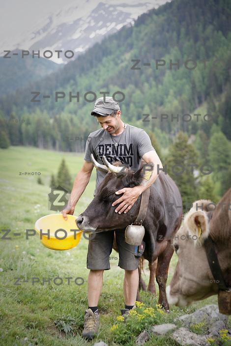 Fotoreportage von Biobauer Urs Heinrich vom Hof Plaschair in Berg&uuml;n<br /> <br /> Copyright 2015 &copy; Zvonimir Pisonic