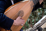 Baroque Lute Player in Guell Park, Lute body