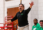 WOODBURY, CT. 08 January 2020-010820BS548 - Wilby Head coach Alan Piccolo yells out instructions to his players, during a Boys Basketball game betweem Wilby and Nonnewaug at Nonnewaug High School in Woodbury on Wednesday. Bill Shettle Republican-American
