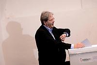 Roma, 30 Aprile 2017<br /> Paolo Gentiloni al voto<br /> Voto Primarie Partito Democratico