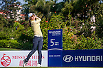 Char-Young Kim of Korea plays a shot during the Hyundai China Ladies Open 2014 at World Cup Course in Mission Hills Shenzhen on December 14 2014, in Shenzhen, China. Photo by Xaume Olleros / Power Sport Images