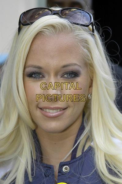 "KENDRA WILKINSON.Photocall before a book signing of ""Playboy: 50 Years: The Photographs"" on his 80th Birthday at Harvey Nicholls . in London, UK..May 23, 2006.Ref: IA.headshot portrait sunglasses shades .www.capitalpictures.com.sales@capitalpictures.com.©Capital Pictures"