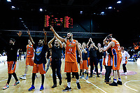 The Sharks thank fans after winning the national basketball league final  between Wellington Saints and Southland Sharks at TSB Bank Arena in Wellington, New Zealand on Sunday, 5 August 2018. Photo: Dave Lintott / lintottphoto.co.nz