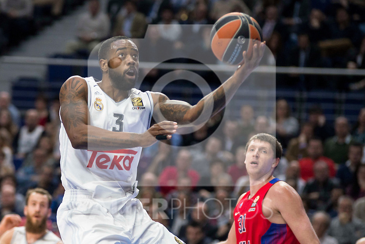 Real Madrid's player KC Rivers during the match between Real Madrid and CSKA Moscu of Turkish Airlines Euroleague at Barclaycard Center in Madrid, March 02, 2016. (ALTERPHOTOS/BorjaB.Hojas) during the match between Real Madrid and CSKA Moscu of Turkish Airlines Euroleague at Barclaycard Center in Madrid, March 02, 2016. (ALTERPHOTOS/BorjaB.Hojas) during the match between Real Madrid and CSKA Moscu of Turkish Airlines Euroleague at Barclaycard Center in Madrid, March 02, 2016. (ALTERPHOTOS/BorjaB.Hojas) during the match between Real Madrid and CSKA Moscu of Turkish Airlines Euroleague at Barclaycard Center in Madrid, March 02, 2016. (ALTERPHOTOS/BorjaB.Hojas)