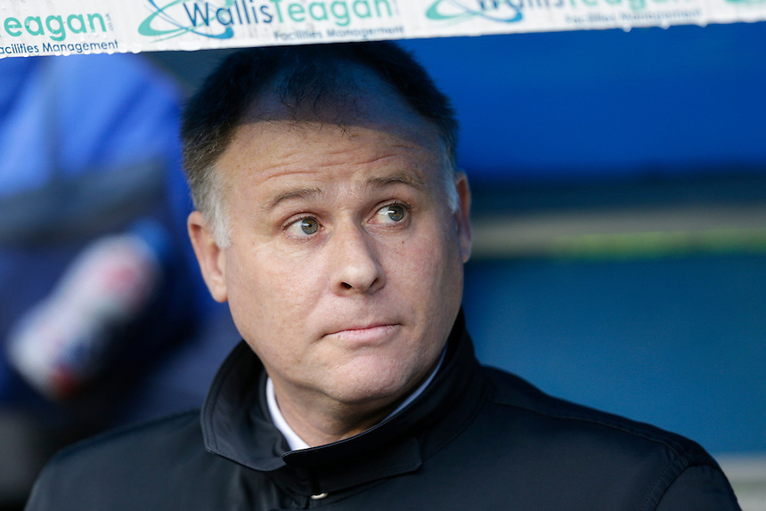 Blackpool manager Neil McDonald <br /> <br /> Photographer Craig Mercer/CameraSport<br /> <br /> Football - The Football League Sky Bet League One - Millwall v Blackpool - Saturday 5th March 2016 - The Den - Millwall<br /> <br /> &copy; CameraSport - 43 Linden Ave. Countesthorpe. Leicester. England. LE8 5PG - Tel: +44 (0) 116 277 4147 - admin@camerasport.com - www.camerasport.com
