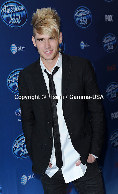 Colton Dixon arriving at the American Idol Premiere Event at the Royce Hall in Los Angeles.