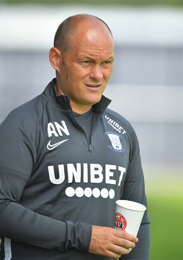 Preston North End's Manager Alex Neil<br /> <br /> Photographer Dave Howarth/CameraSport<br /> <br /> Football Pre-Season Friendly - AFC Flyde v Preston North End - Saturday July 13th 2019 - Mill Farm - Flyde<br /> <br /> World Copyright © 2019 CameraSport. All rights reserved. 43 Linden Ave. Countesthorpe. Leicester. England. LE8 5PG - Tel: +44 (0) 116 277 4147 - admin@camerasport.com - www.camerasport.com