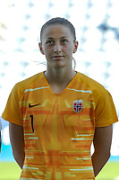 20200310 Faro , Portugal : Norwegian goalkeeper Cecilie Haustaker Fiskerstrand (1) pictured during the female football game between the national teams of New Zealand and Norway on the third matchday of the Algarve Cup 2020 , a prestigious friendly womensoccer tournament in Portugal , on Tuesday 10 th March 2020 in Faro , Portugal . PHOTO SPORTPIX.BE | STIJN AUDOOREN
