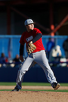 Nick Anderson of Carlsbad High School in Carlsbad, California participates in the Southern California scouts game for high school seniors at the Urban Youth Academy on February 9, 2013 in Compton, California. (Larry Goren/Four Seam Images)