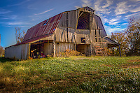 An old barn on Cave Mountain, in Newton County Arkansas, near the Buffalo National River.