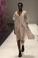 Melbourne, September 7, 2018 - A model wearing Akira walks at the Town Hall Runway Seven show in Melbourne Fashion Week in Melbourne, Australia. Photo Sydney Low