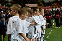 Thursday 24 October 2013  <br /> Pictured: Mascots<br /> Re:UEFA Europa League, Swansea City FC vs Kuban Krasnodar,  at the Liberty Staduim Swansea