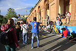 Tifosi on the San Luca climb during Stage 1 of the 2019 Giro d'Italia, an individual time trial running 8km from Bologna to the Sanctuary of San Luca, Bologna, Italy. 11th May 2019.<br /> Picture: Eoin Clarke | Cyclefile<br /> <br /> All photos usage must carry mandatory copyright credit (© Cyclefile | Eoin Clarke)